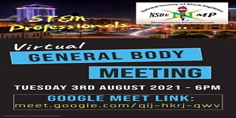NSBE-Montgomery Professionals: General Body Meeting tickets