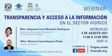 Webinar - Transparencia y Acceso a la Información en el Sector Hídrico boletos