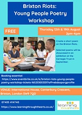 Brixton Riots: Young People Poetry Workshop tickets