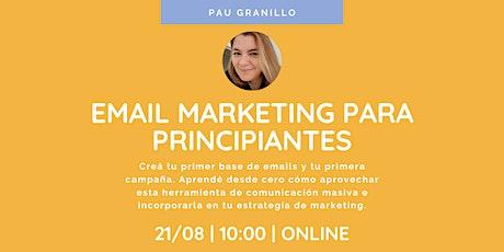 Email marketing para principiantes tickets