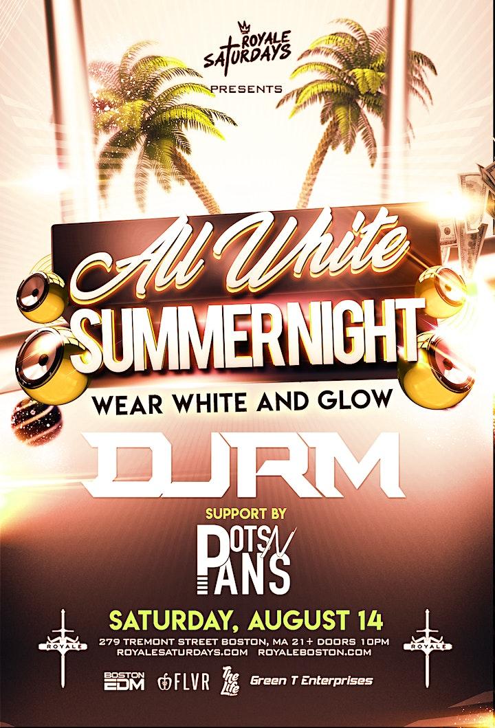 All White Summer Night   Royale Saturdays   8.14.21   10:00 PM   21+ image