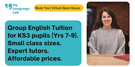 KS3 English Tuition | Affordable Group Lessons |  Virtual Open House tickets