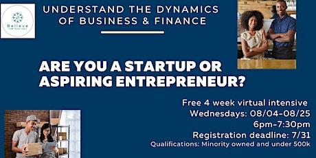 Entrepreneur Financial Literacy & Growth Intensive tickets