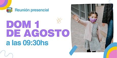 Reunión Presencial en Caudal de Vida -KIDS- Domingo 01/08 9:30 hs. entradas