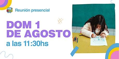 Reunión Presencial en Caudal de Vida -KIDS- Domingo 01/08 11:30hs. entradas