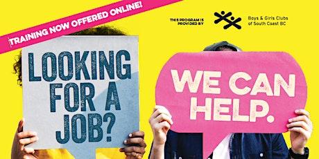 EMPLOYMENT NOW - A free 2-week online job training program (Sep) tickets
