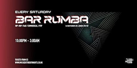 Bar Rumba // Every Saturday tickets