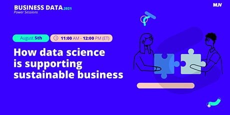 MJV Power Sessions:  How data science is supporting sustainable business tickets