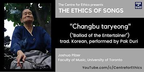 "The Ethics of Songs: Joshua Pilzer on ""Changbu taryeong"" tickets"