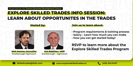 Learn about opportunities in the Trades! tickets