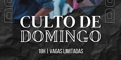 Culto Presencial de Domingo - 01/08 ingressos