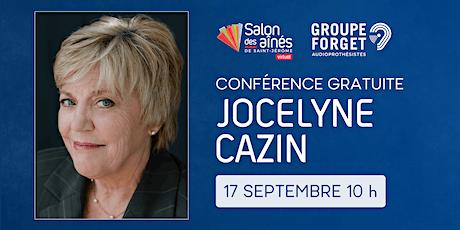 Conférence gratuite de Jocelyne Cazin billets