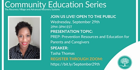 Community Education Series: PREP: Prevention Resources and Education tickets