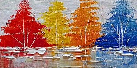 Virtual Paint Night - Vibrant Abstract Forest tickets