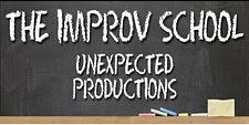 The Improv School Unexpected Productions logo