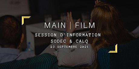 Session d'information CALQ & SODEC | En ligne billets