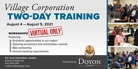Virtual Village Corporation Two-Day Training tickets