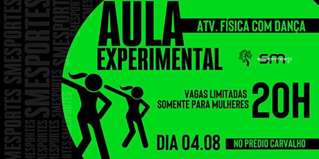 AULA DEMONSTRATIVA - ATIVIDADE DE DANÇA 04.08 ÀS 20H tickets