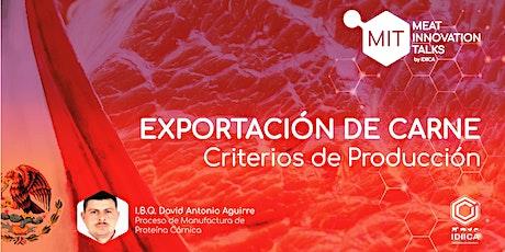 Criterios de  Producción para la Exportación de Carne entradas
