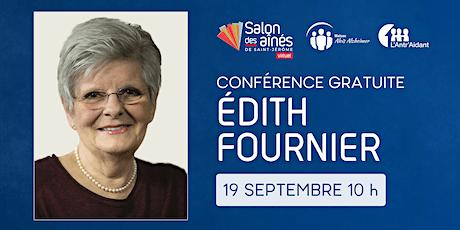 Conférence gratuite d'Édith Fournier billets