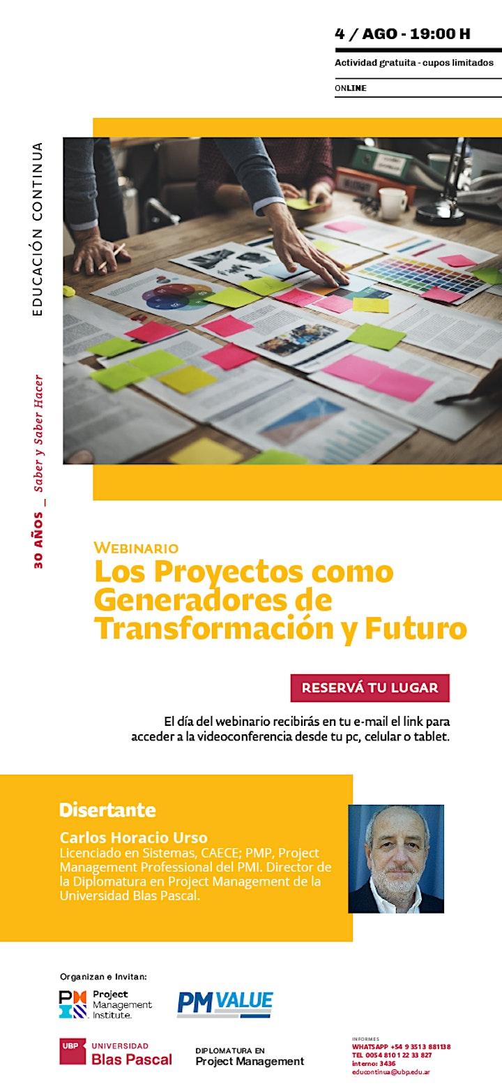 Imagen de Webinario> Los Proyectos como Generadores de Transformación y Futuro