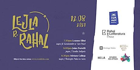 Lejla r-Raħal - Miriam Calleja taqra f'Bottegin Palazzo Xara tickets