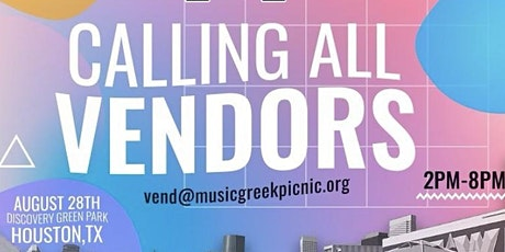 2021 MUSIC GREEK PICNIC VENDOR REGISTRATION tickets