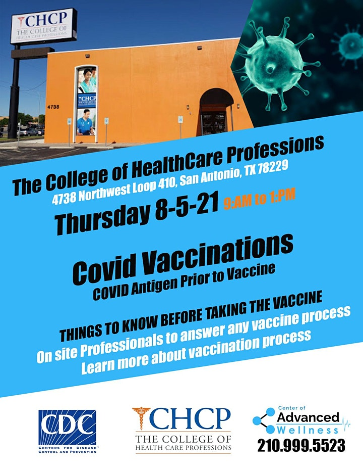 No Out of Pocket COVID VACCINATIONS - CHCP image