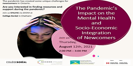The Pandemic's Impact on the Mental Health and  Socio-Economic Integration tickets