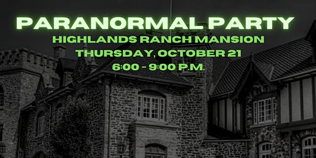 Paranormal Party tickets