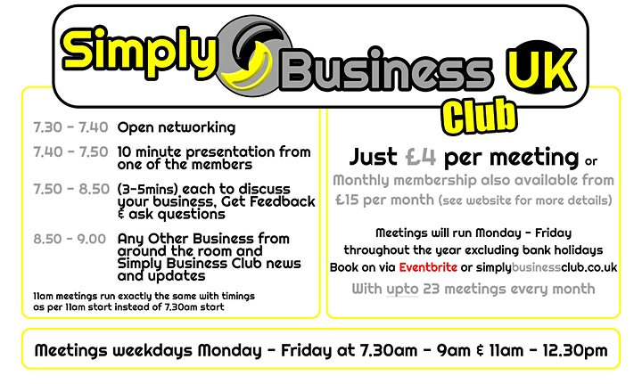 Simply Business Club - Online Networking image