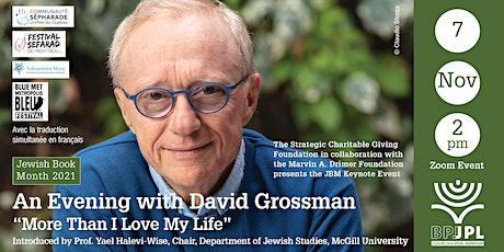 "JBM Keynote: An Evening with David Grossman – ""More Than I Love My Life"" tickets"