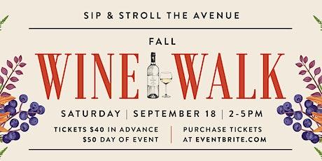 Willow Glen Fall Wine Walk 2021 tickets