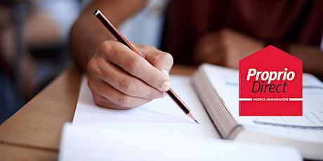 Activité préparatoire à l'examen de certification de l'OACIQ billets
