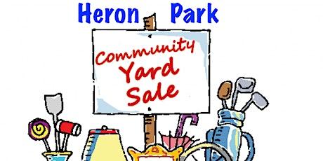 Heron Park Community Yard Sale billets
