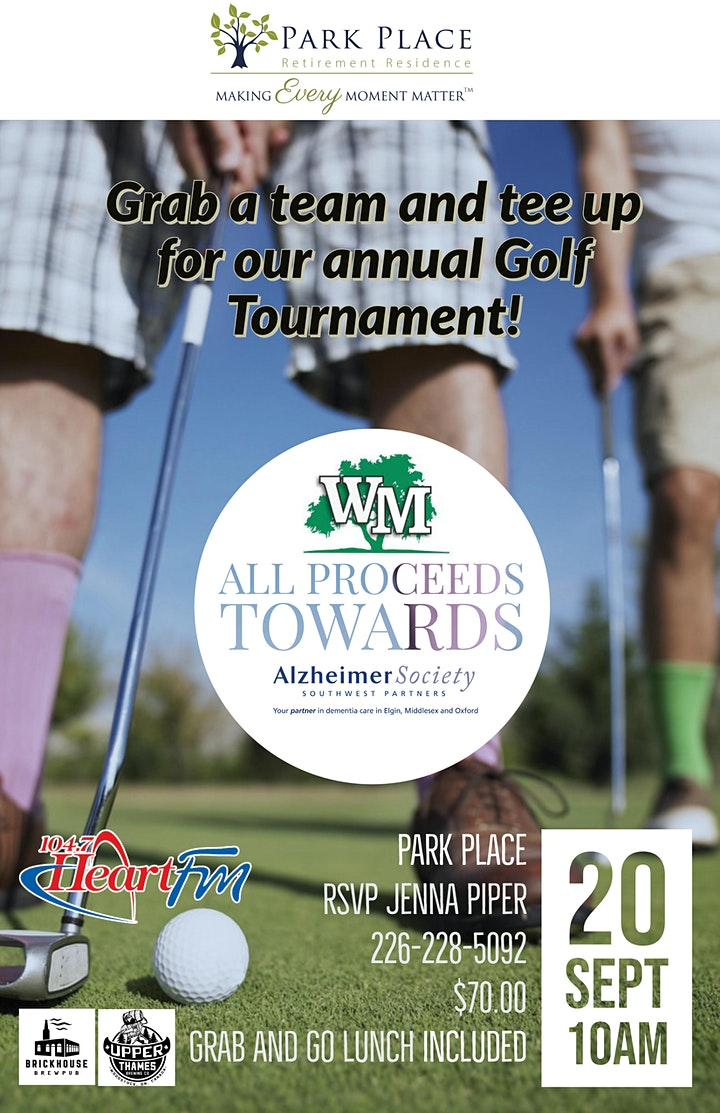 Charity Golf Tournament for Alzheimer's South West image