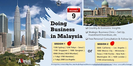 Doing Business in `Malaysia tickets