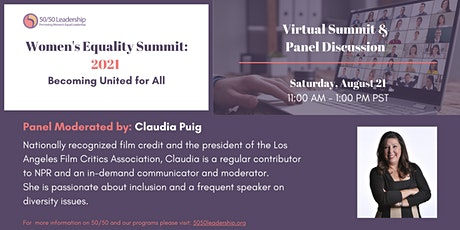 2021 Women's Equality Summit: Becoming United for All entradas