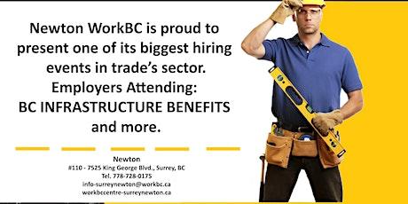 Newton WorkBC Virtual Hiring Fair  with Trades Sector tickets