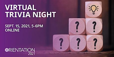 GSS Orientation 2021: Virtual Trivia Night tickets