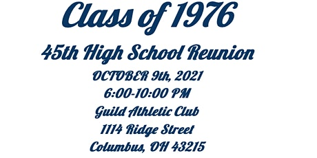 Grandview Heights Class of 1976 45th Reunion tickets