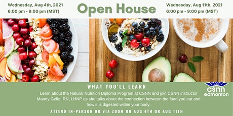 Natural Nutrition Info Session & Nutrition & Digestion  Class tickets
