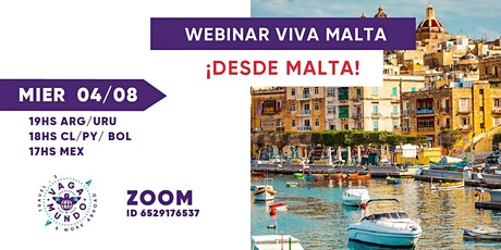 WEBINAR ¡Viva Malta...Desde Malta! / VAGA-MUNDO boletos