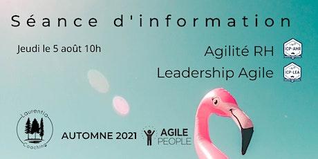 Séance d'information : parcours d'apprentissage : Agile People I Agile RH billets