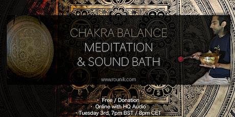 Rounik's Chakra Balance Sound Bath Meditation tickets
