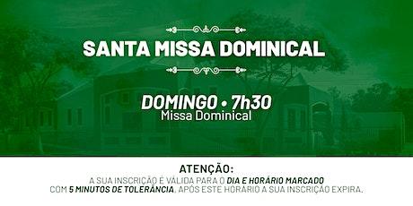 Santa Missa Dominical - Domingo | 01 de Agosto 7h30 ingressos