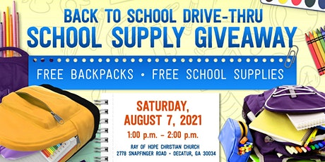 Free Backpack/School Supplies Giveaway tickets