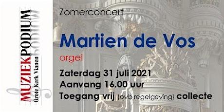 Zomerconcert door Martien de Vos tickets