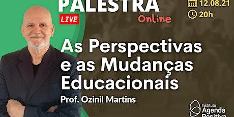 Palestra Online: As Perspectivas e as Mudanças Educacionais ingressos
