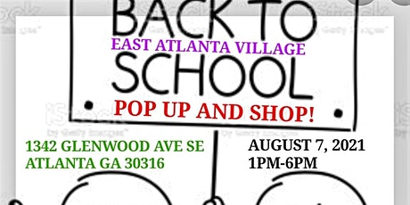 """BACK TO SCHOOL """"POP UP AND SHOP!"""" tickets"""